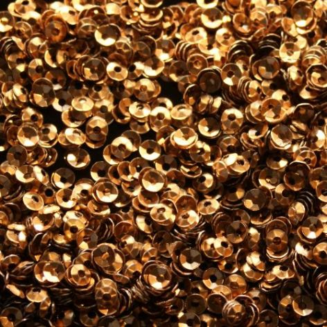 CLEARANCE Large Pack 3mm Satin Bronze/Brown (Matt) Cupped Sequins. LAST FEW
